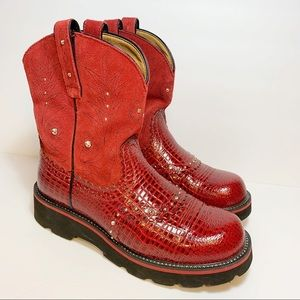 Ariat | Fat Baby Red Boots | Size 9.5